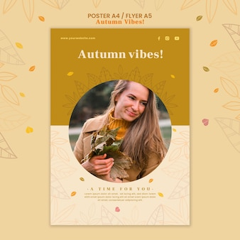 Modelo de folheto de conceito de outono