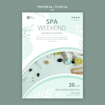 Modelo de folheto de conceito de spa