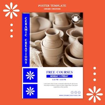 Modelo de folheto de criações em cerâmica