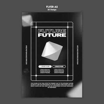 Modelo de folheto de design 3d