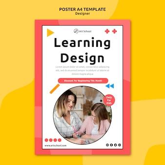 Modelo de folheto de design de aprendizagem