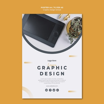 Modelo de folheto de design gráfico
