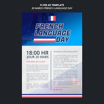 Modelo de folheto de dia em francês