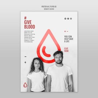 Modelo de folheto de doação de sangue