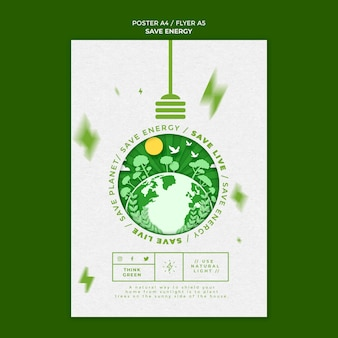 Modelo de folheto de economia de energia