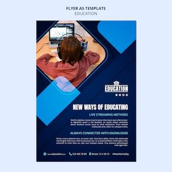 Modelo de folheto de educação online