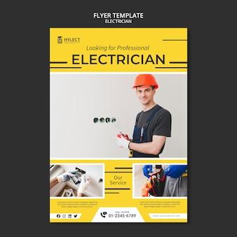 Modelo de folheto de eletricista