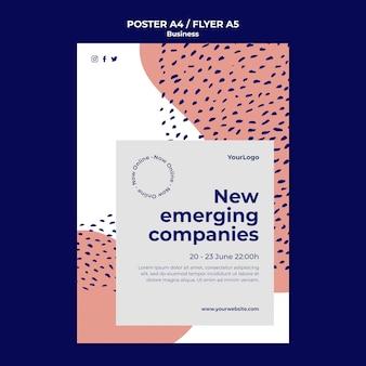 Modelo de folheto de empresas emergentes
