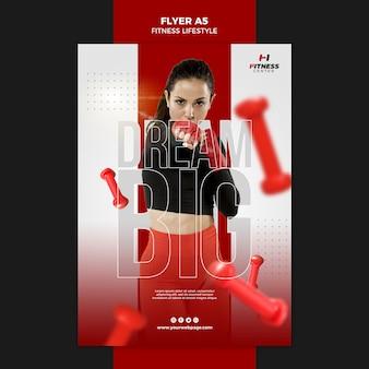Modelo de folheto de estilo de vida de fitness