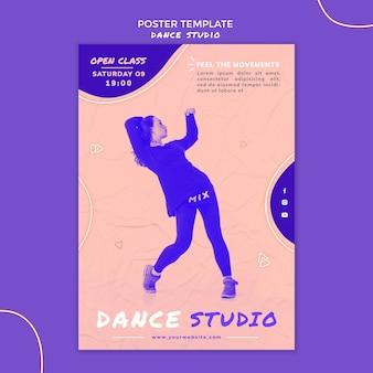 Modelo de folheto de estúdio de dança