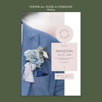 Modelo de folheto de evento de casamento