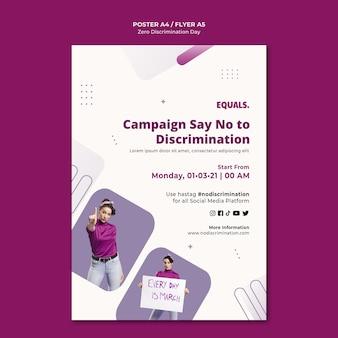Modelo de folheto de evento de dia de discriminação zero