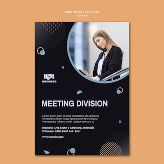Modelo de folheto de evento de negócios