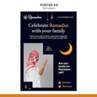 Modelo de folheto de evento de ramadã