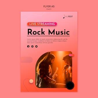 Modelo de folheto de evento musical