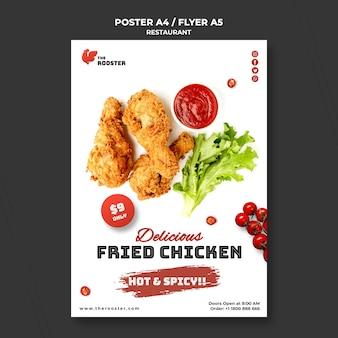 Modelo de folheto de fast food