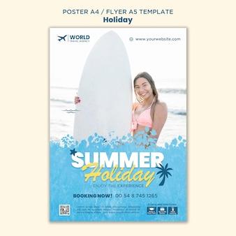 Modelo de folheto de férias