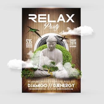 Modelo de folheto de festa de relaxamento