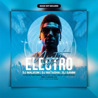 Modelo de folheto de festa noturna electro dj