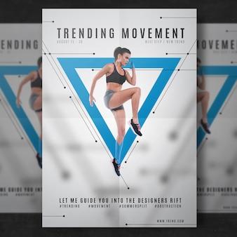 Modelo de folheto de fitness