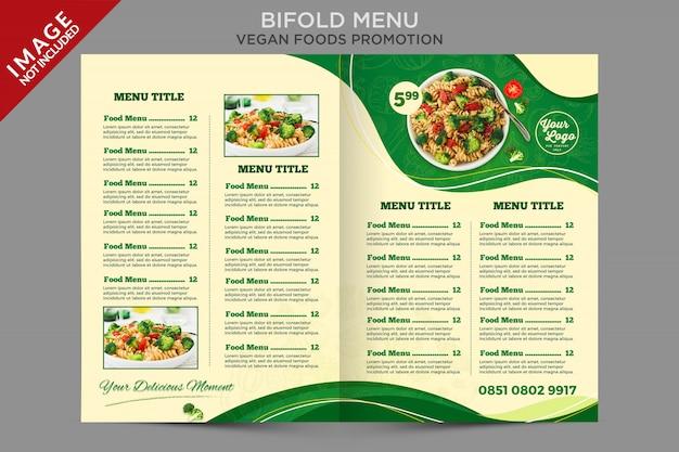 Modelo de folheto de folheto com menu duplo