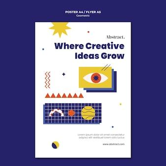 Modelo de folheto de ideias criativas