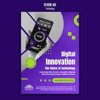 Modelo de folheto de inovação digital