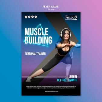 Modelo de folheto de instrutor de fitness