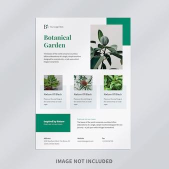Modelo de folheto de jardim botânico