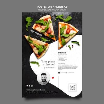 Modelo de folheto de livro de culinária