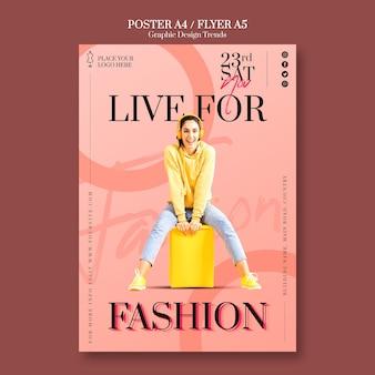 Modelo de folheto de loja de moda