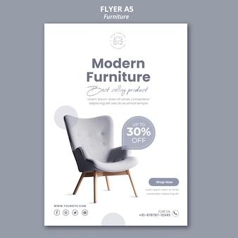 Modelo de folheto de loja de móveis