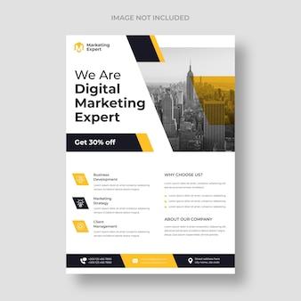 Modelo de folheto de marketing digital moderno