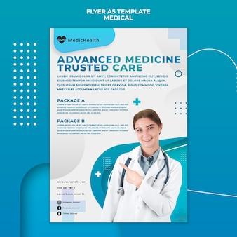 Modelo de folheto de medicina avançada