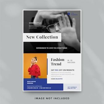 Modelo de folheto de moda criativa