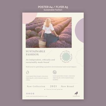 Modelo de folheto de moda sustentável