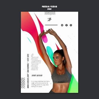 Modelo de folheto de motivação para esportes Psd grátis