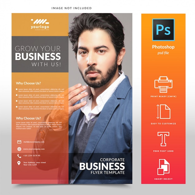 Modelo de folheto de negócios corporativos