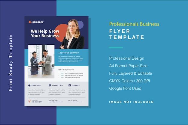 Modelo de folheto de negócios para profissionais