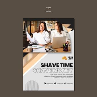 Modelo de folheto de negócios profissional a5