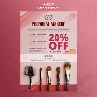 Modelo de folheto de oferta de maquiagem