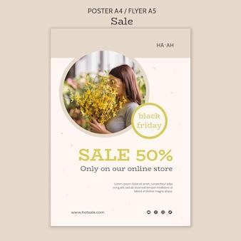 Modelo de folheto de oferta de venda