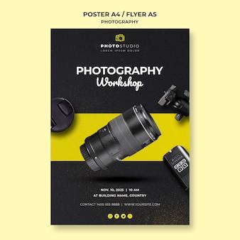 Modelo de folheto de oficina de fotografia