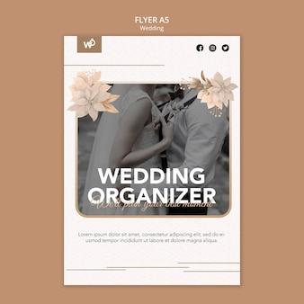 Modelo de folheto de organizador de casamento