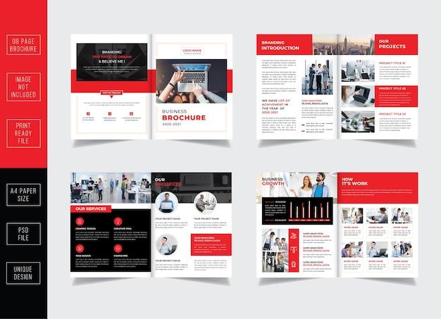 Modelo de folheto de páginas de rosto do perfil da empresa