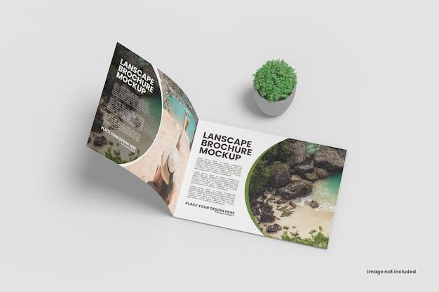 Modelo de folheto de paisagem