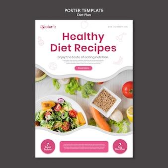 Modelo de folheto de plano de dieta