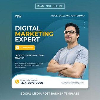 Modelo de folheto de postagem de marketing digital de negócios on-line em mídia social