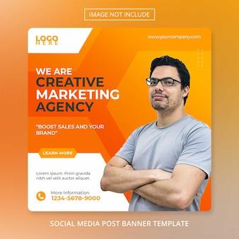 Modelo de folheto de postagem em mídia social de marketing de negócios digitais