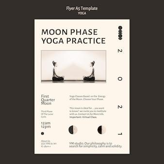 Modelo de folheto de prática de ioga
